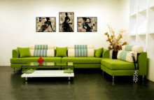 Vogue girls, tri uramljene slike 30x40cm svaka