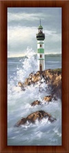 Zeleni svetionik, uramljena slika