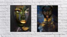 Zukki, dve uramljene slike 30x40cm svaka