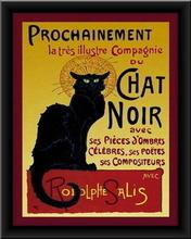 Chat Noir, uramlljena slika