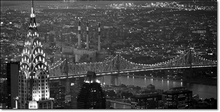 Chrysler Building and Queensboro Bridge, framed picture