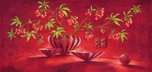 Crvene bobice, uramljena slika