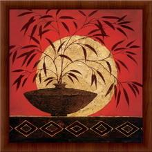 Crveni bambus, uramljena slika