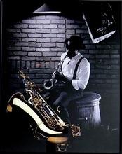 Džez svirač, uramljena slika
