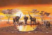 Elephants, uramljena slika 70x100cm