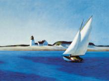 In blue, uramljena slika 70x100cm