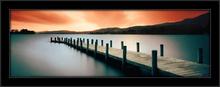 Jetty drveno pristanište, uramljena slika
