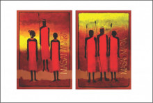 Masai Mara, uramljena slika 50x70 cm svaka