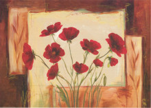 Red flowers, uramljena slika 70x100cm