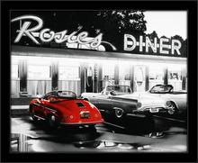 Restoran Rosies, uramljena slika