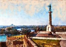 Spomenik pobednik, uramljena slika 50x70cm