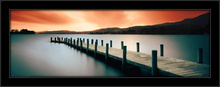 Wooden landing Jetty, framed picture