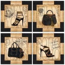 Ženske torbe i cipele, slike na medijapanu