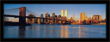 Brooklin Bridge in the morning, framed picture