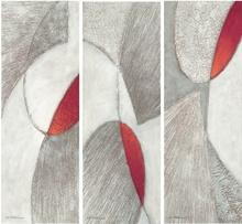 Crno crvena apstrakcija, slike na medijapanu