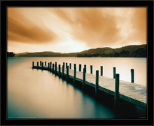 Jetty, framed picture