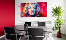 M.Monroe in red, uramljena slika 50x100 cm
