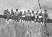 Radnici na gredi, uramljena slika