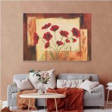 Red flowers, uramljena slika 70x100cm