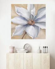 White flower 2, uramljena slika dimenzije 70x70cm
