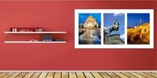 Beograd triptych, uramljena slika 50x100 cm