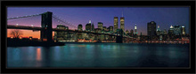 Brooklin Bridge at night, framed picture