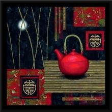 Crveni čajnik 2, uramljena slika