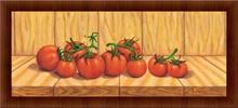 Crveni paradajz, uramljena slika