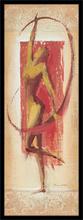 Cvetna crvena figura, uramljena slika