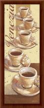 Dobro jutro, kafa Roma, Venecija, uramljene slike, triptih