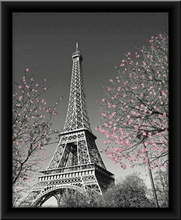 Eiffel tower, framed picture