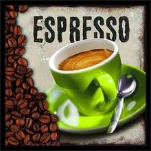 Espresso, uramljena slika