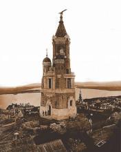 Gardos kula, uramljena slika 40x50cm
