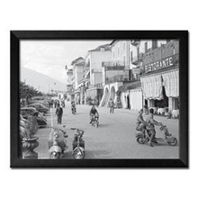 Italijanski gradić, uramljena slika