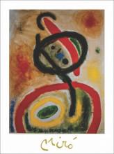 J. Miro, femme III , uramljena slika 40x50cm