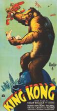 King Kong stari poster , uramljena slika 50x100cm