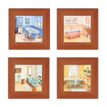 Kupatilo u boji, cetiri uramljene slike