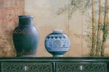 Plava Vaza, uramljena slika