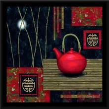 Red tea pot 2, framed picture