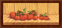 Red tomatoes, framed picture