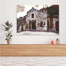 Crkva Ruzica na kalemegdanu, uramljena slika 50x70cm