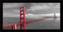 Golden Gate bridge San Francisco, uramljena slika