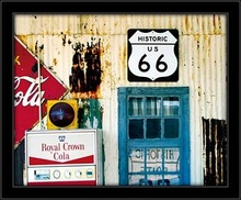 Historic Route 66, framed picture