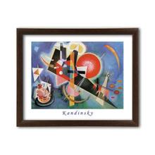Im Blau, Wassily Kandinsky, uramljena slika