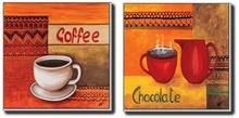 Kafa i čokolada,  slika na medijapanu