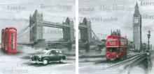 London, dve uramljene slike dimenzije 30x30cm svaka