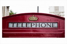 London telephone, uramljena slika 50x100cm