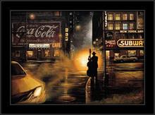 Noćni svirač u Njujorku 2, uramljena slika