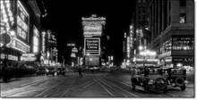 Times Square at night-1910, framed picture