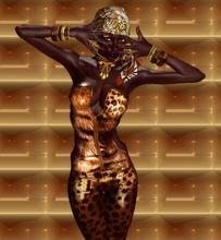African American Woman, uramljena slika 45x55 cm
